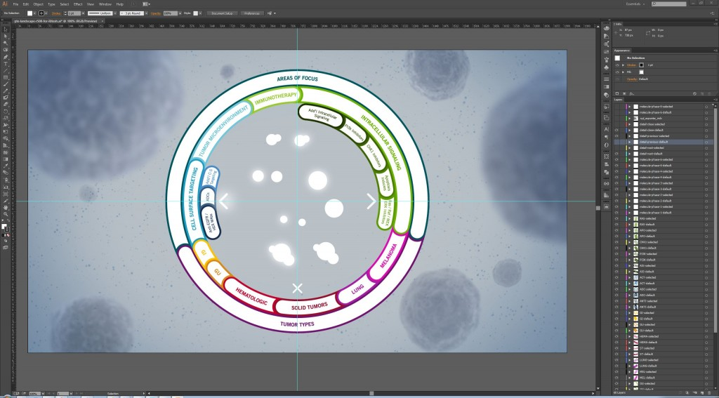 Genentech pipeline Adobe Illustrator design details