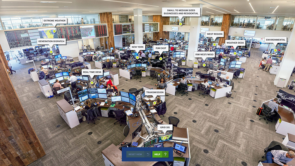 panoramic photo of energy trading floor