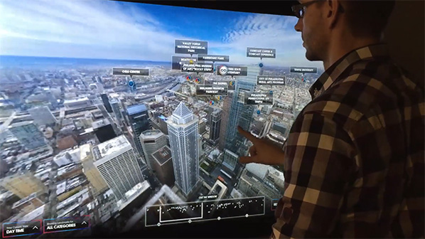 Interacting with 360 image touchscreen application